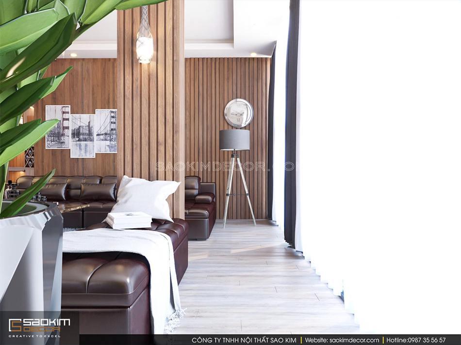 Các món đồ nội thất hiện đại toát lên sự sang trọng, tiện nghi cho không gian