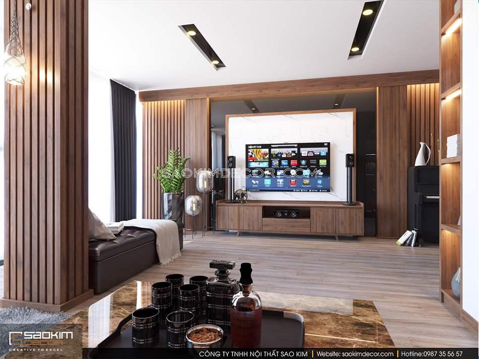 Cách bố trí nội thất khéo léo, thông minh mang đến sự hài hòa trong thiết kế nội thất phòng khách nhà phố