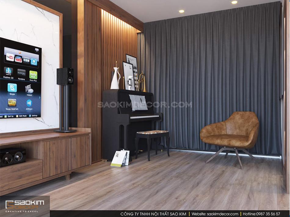 Mẫu thiết kế nội thất phòng khách nhà phố đẹp