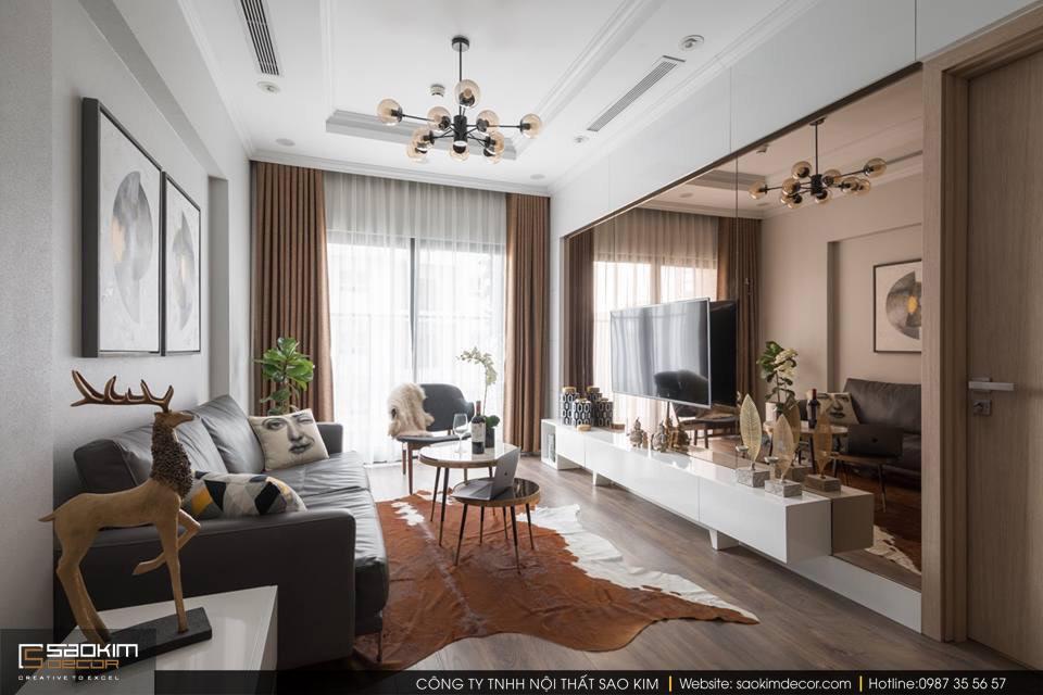 Thiết kế và thi công chung cư 83m2 Golden West Lê Văn Thiêm