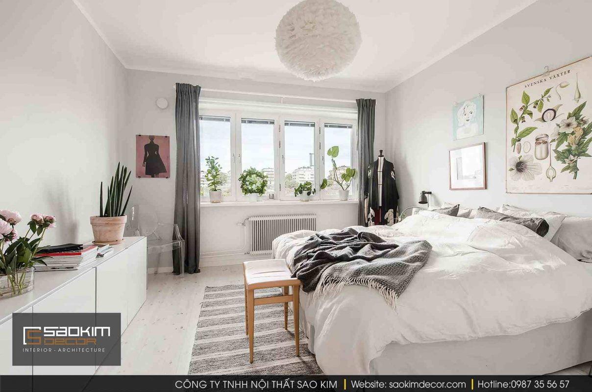 Thiết kế và thi công nội thất chung cư Vinhome Gardenia theo phong cách Scandinavian (Bắc Âu)