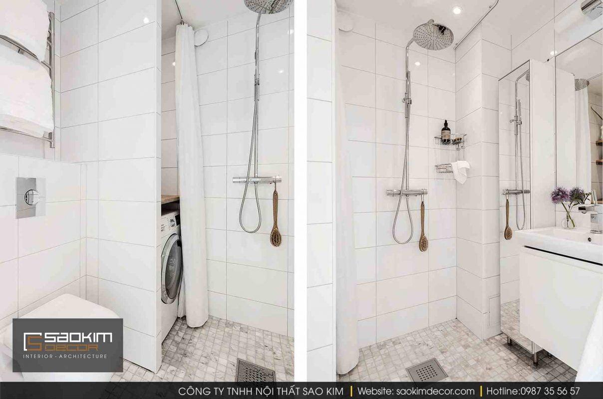 Thiết kế và thi công nội thất phòng tắm chung cư
