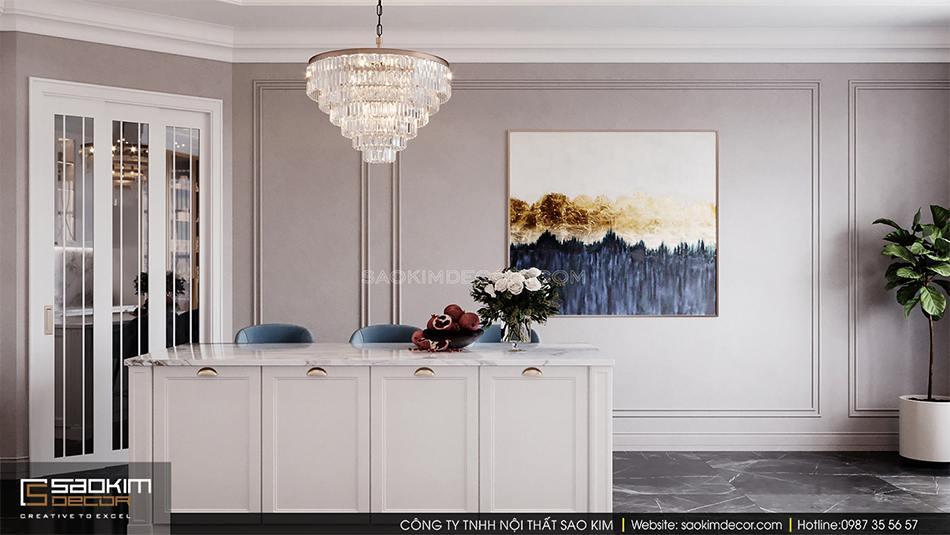 Thiết kế nội phòng bếp biệt thự