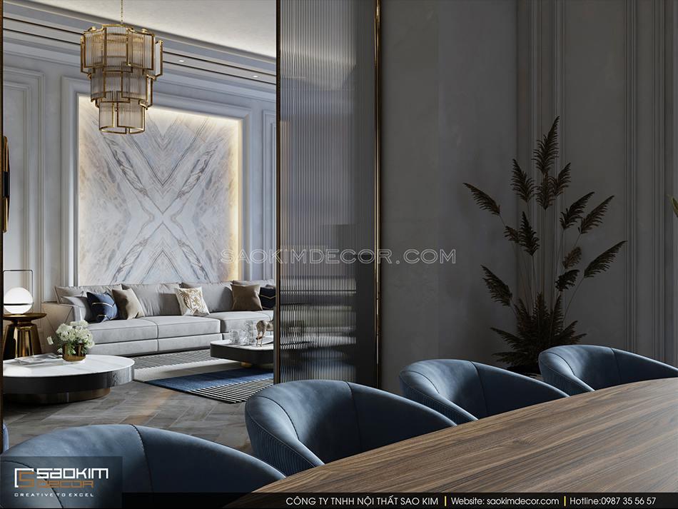Thiết kế phòng ăn biệt thự