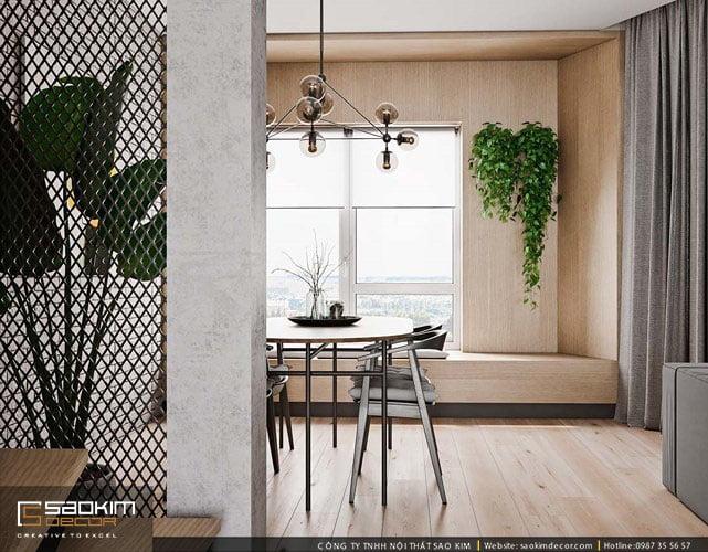 Thiết kế căn hộ đẹp, bố trí thêm rất nhiều cây xanh