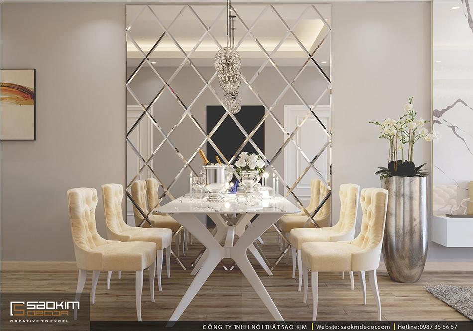 Thiết kế căn hộ chung cư 80m2 theo phong cách hiên đại