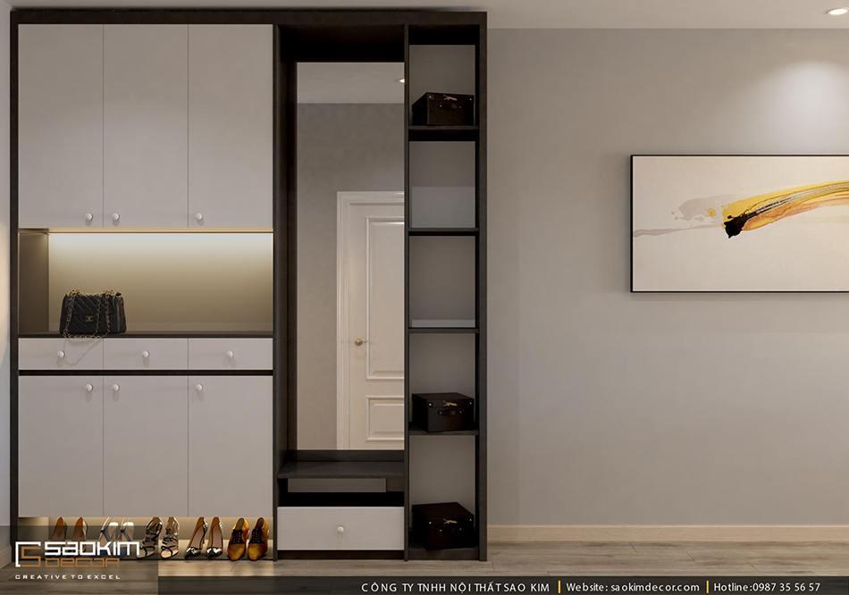 Thiết kế chung cư 80m2 theo phong cách hiên đại