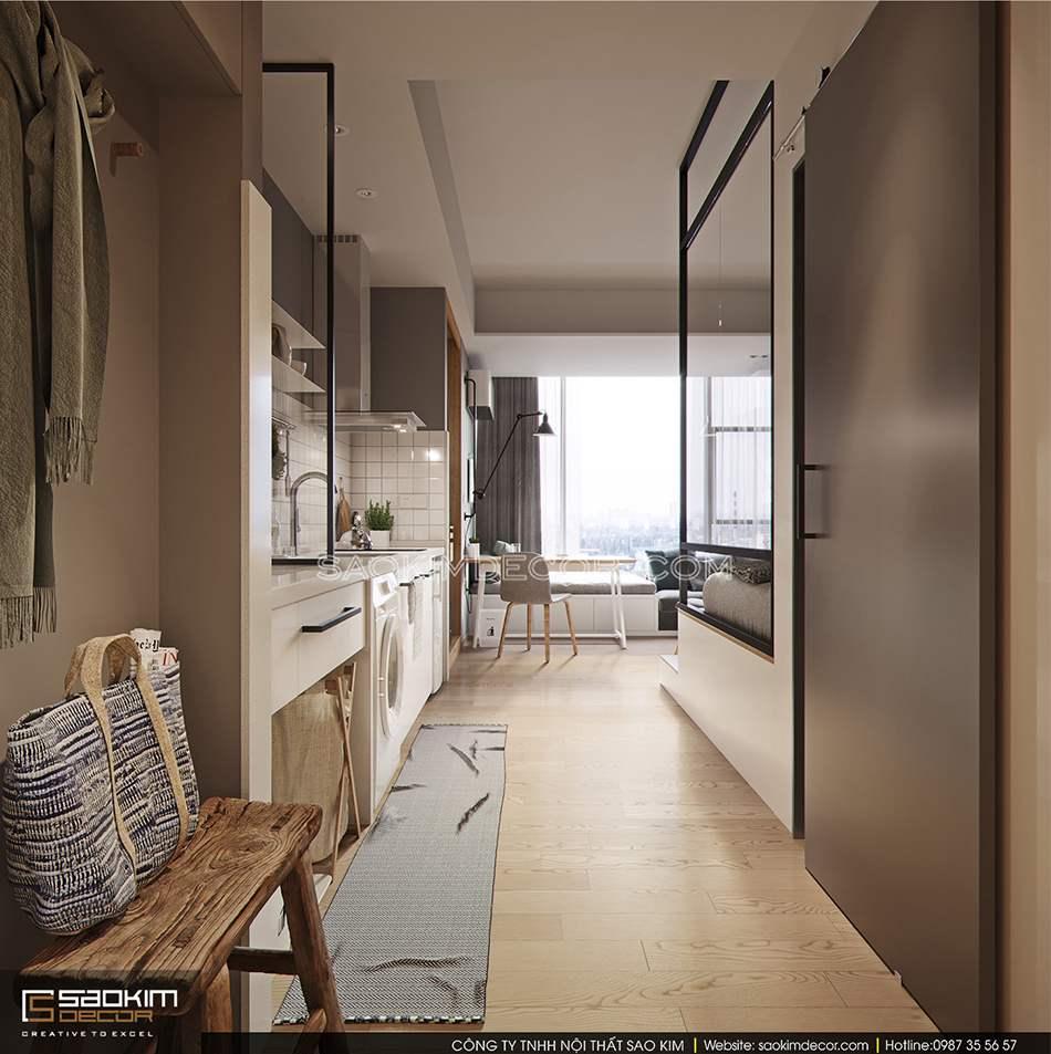 Thiết kế nội thất căn hộ studio mang phong cách Đài Loan