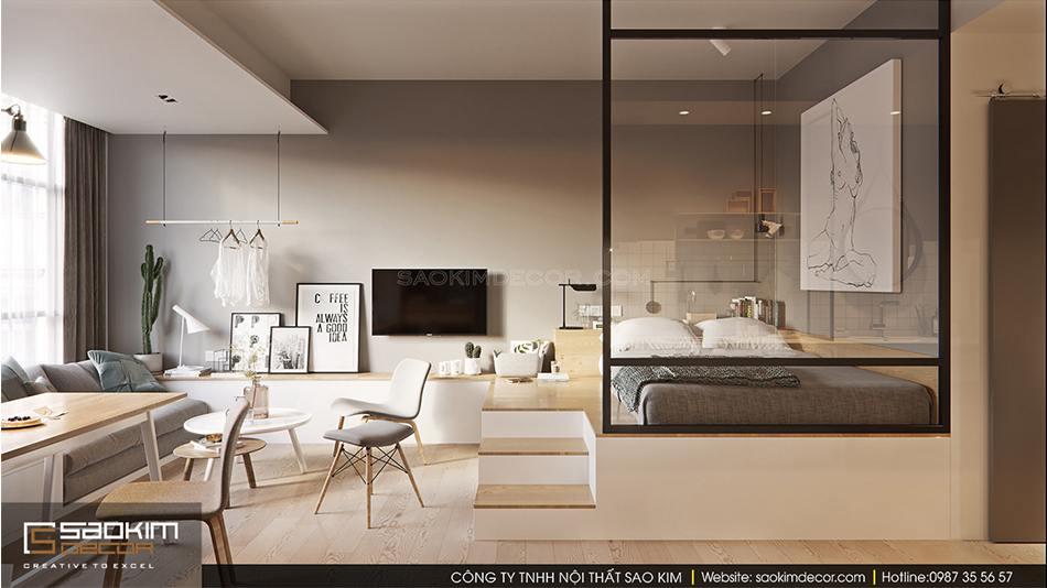 Thiết kế nội thất căn hộ studio theo phong cách Đài Loan