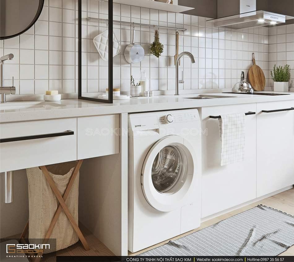 Thiết kế căn bếp đơn giản, nhỏ gọn nhưng vẫn đầy đủ tiện nghi