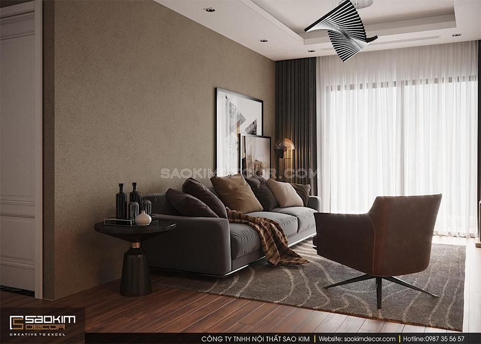 Thiết kế chung cư 2 phòng ngủ phong cách Đài Loan