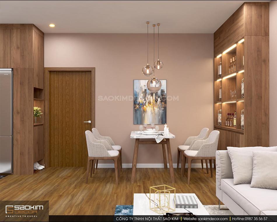 Thiết kế phòng ăn căn hộ chung cư FLC Garden City