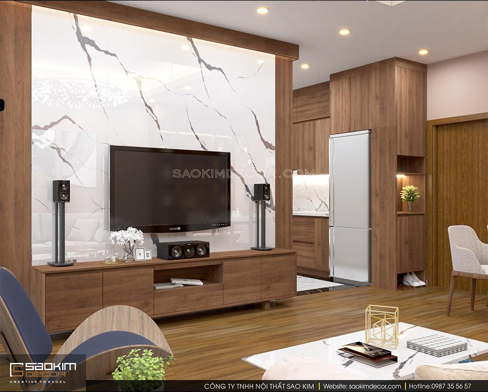 Thiết kế chung cư 70m2 đẹp - căn hộ FLC Garden City mang phong cách hiện đại