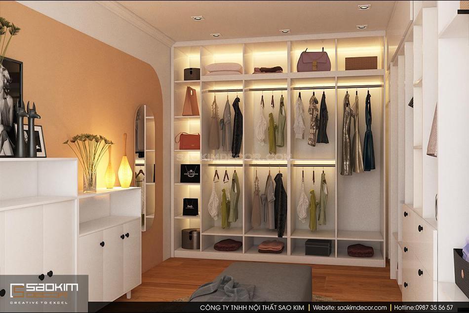 Thiết kế nội thất phòng thay đồ chung cư Sunshine Garden