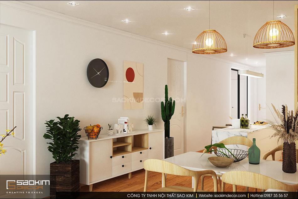 Thiết kế nội thất phòng khách chung cư mang vẻ đẹp cuốn hút từ phong cách Scandinavial và Đài Loan