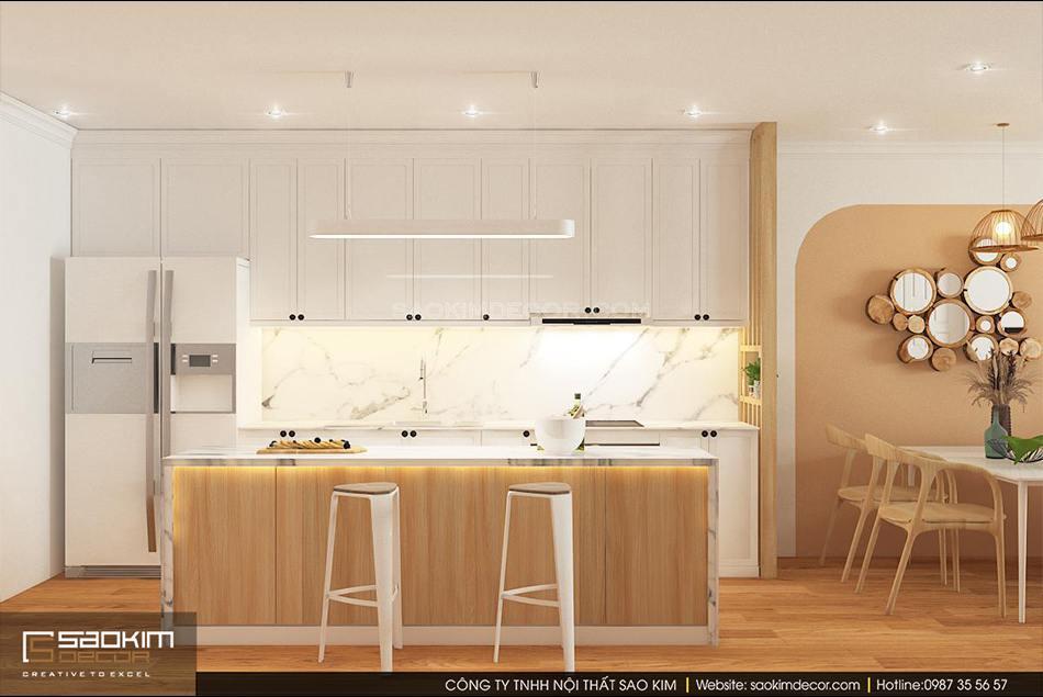 Thiết kế phòng bếp chung cư phong cách Đài Loan