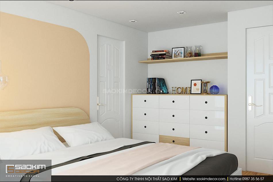 Thiết kế phòng ngủ master theo phong cách scandinavian kết hợp phong cách Đài Loan