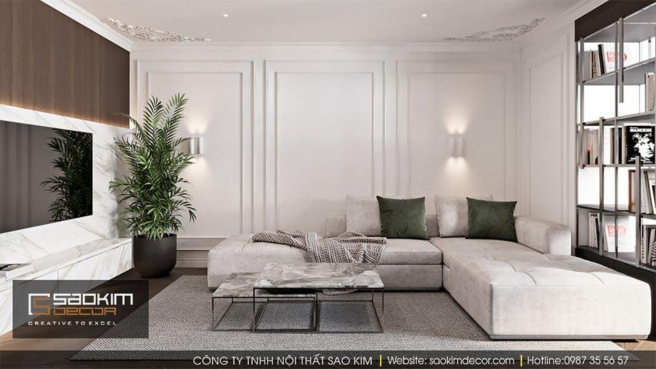 Thiết kế phòng khách chung cư Vinhome Ocean Park