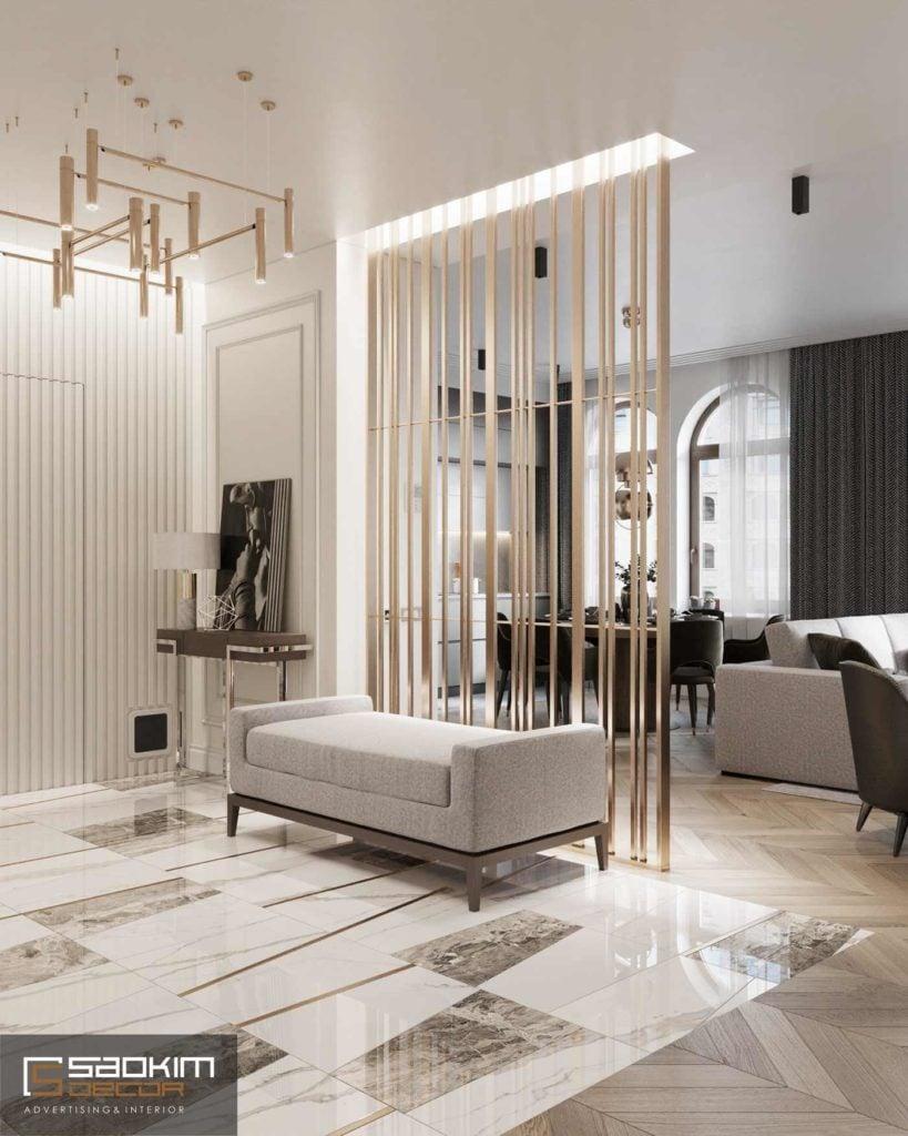 Thiết kế nội thất chung cư tính thẩm mỹ cao, bố trí nội thất hài hòa