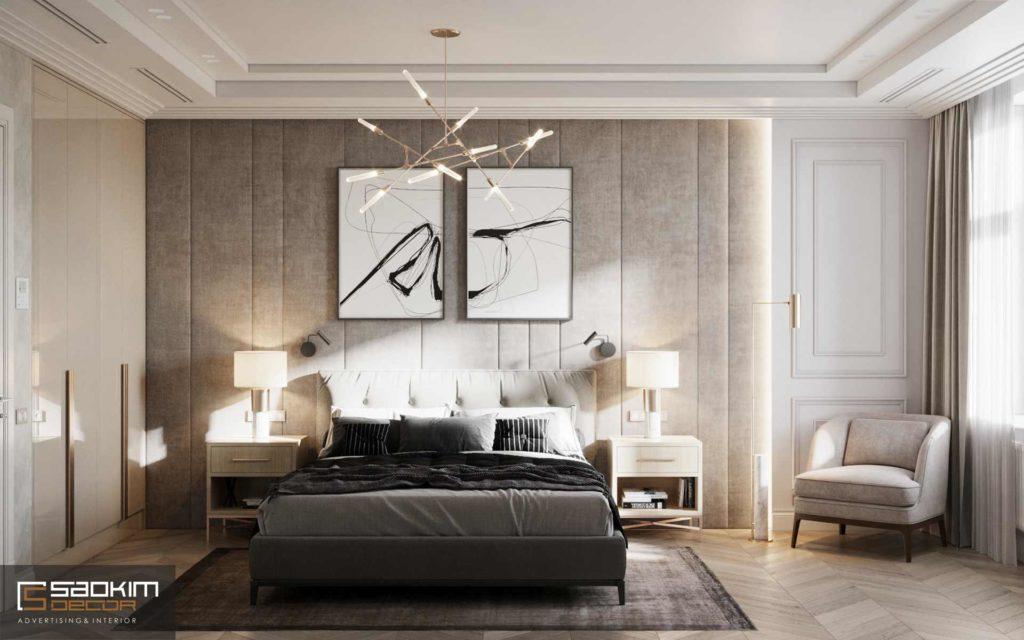 Thiết kế nội thất chung cư 66m2 chú ý đến yếu tố ánh sáng, trần và sàn nhà