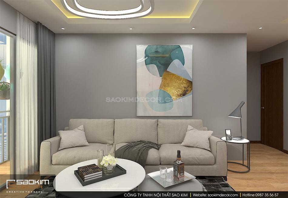 Thiết kế nội thất chung cư 90m2 An Bình City theo phong cách hiện đại