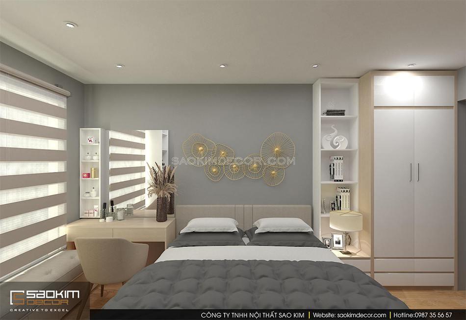 Thiết kế nội thất phòng ngủ master chung cư An Bình City
