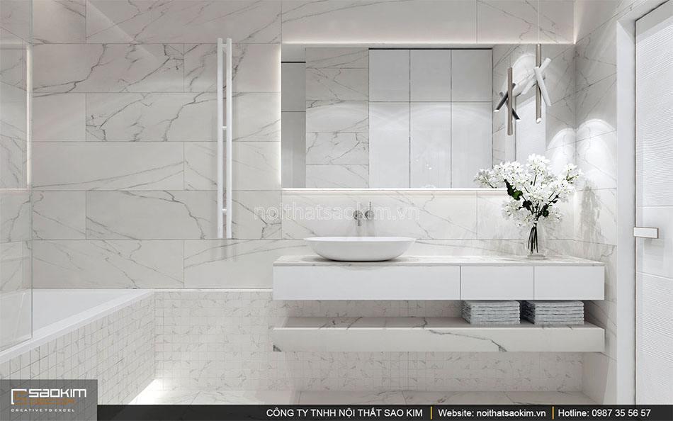 Thiết kế nội thất phòng tắm căn hộ Golden Westlake