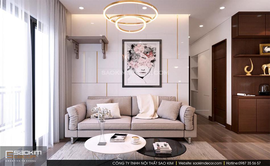 Mẫu thiết kế căn hộ chung cư đẹp phong cách hiện đại