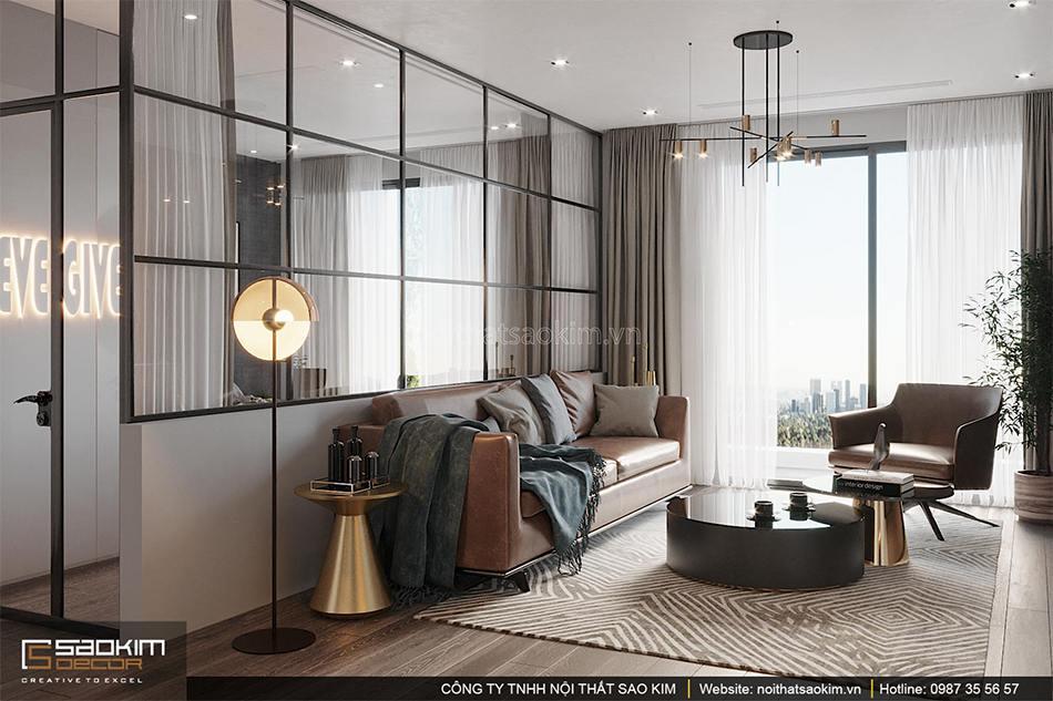 Thiết kế phòng khách căn hộ chung cư Shunshine Garden