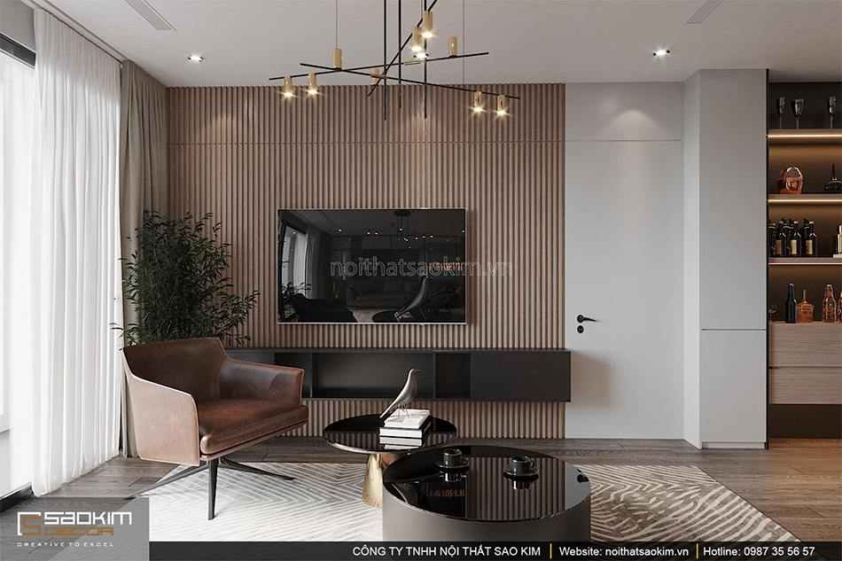 Thiết kế phòng khách chung cư Shunshine Garden