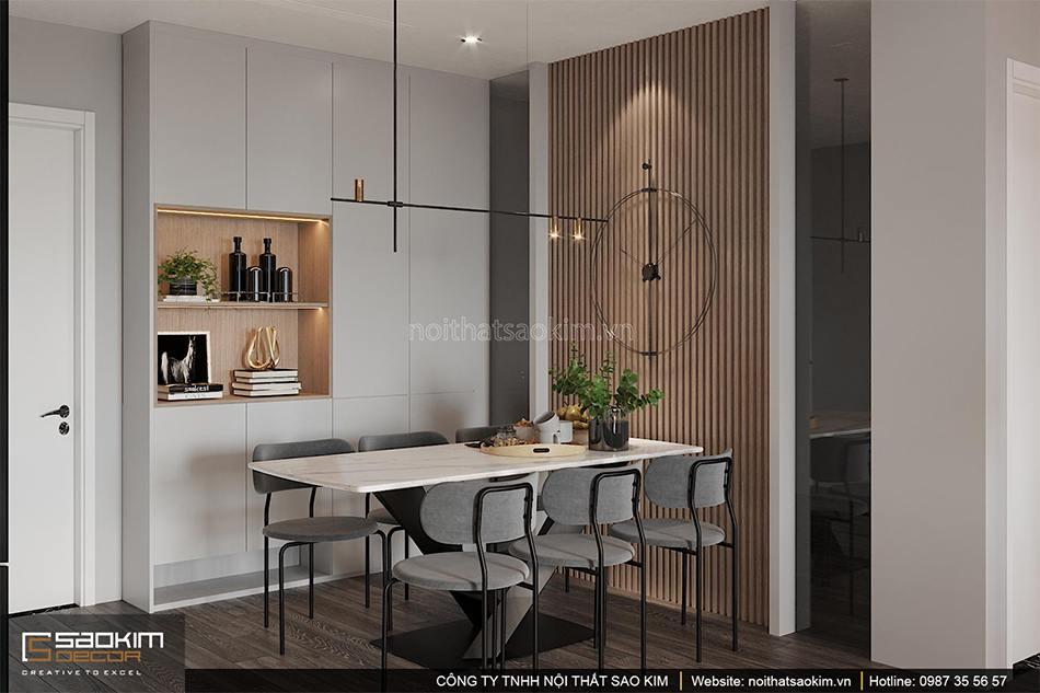 Thiết kế phòng ăn chung cư Shunshine Garden