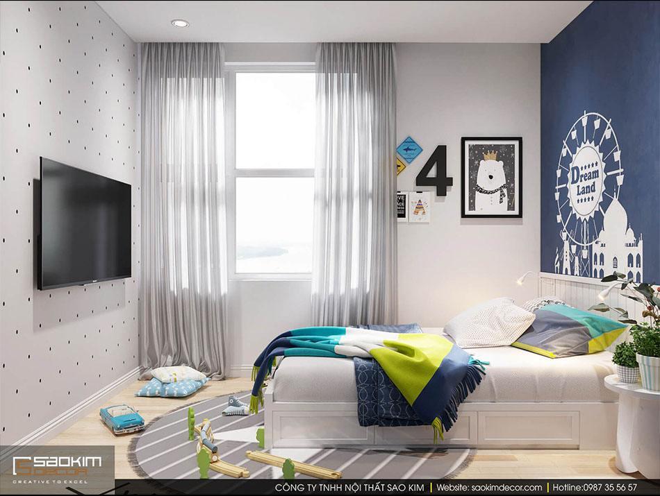 Thiết kế phòng ngủ của bé chung cư 70m2