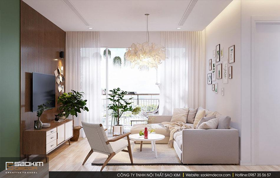Thiết kế nội thất chung cư đẹp Scandinavian