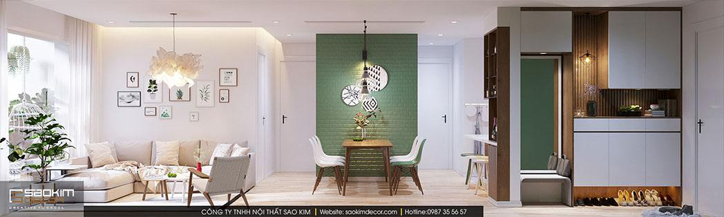 Thiết kế nhà chung cư đẹp 70m2 theo phong cách Scandinavian