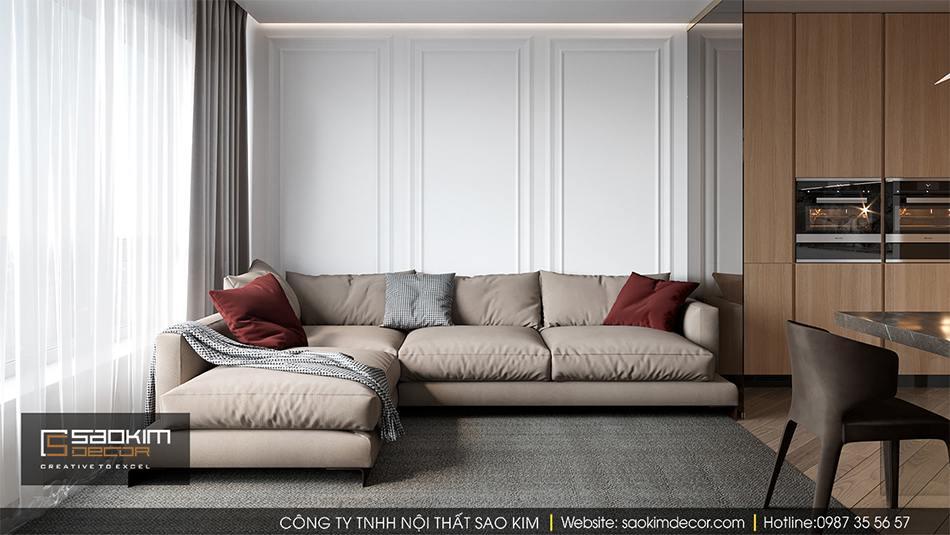 Thiết kế nội thất căn hộ chung cư cao cấp Hateco La Roma