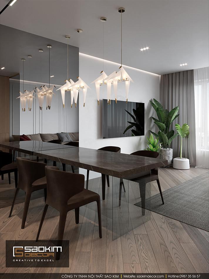 Thiết kế nội thất căn hộ chung cư Hateco La Roma