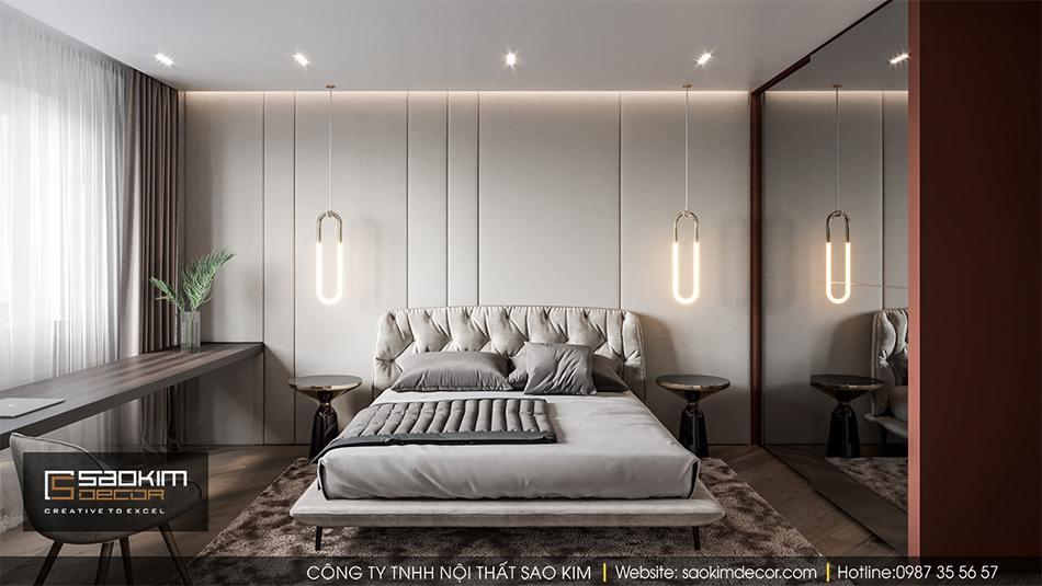 Thiết kế phòng ngủ 2 chung cư Hateco La Roma
