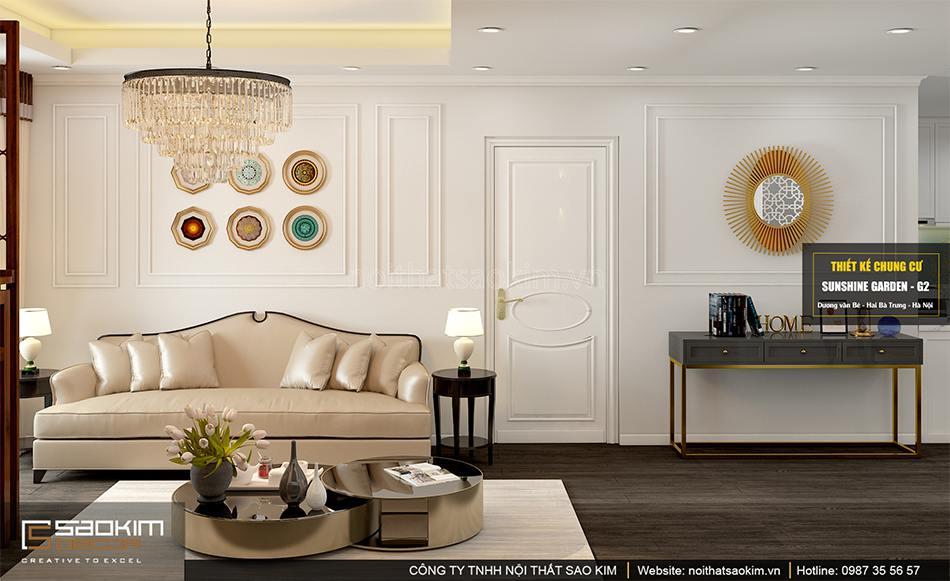 Thiết kế nội thất chung cư đẹp phong cách Tân Cổ Điển