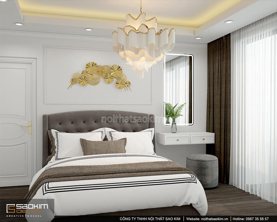 Thiết kế phòng ngủ master chung cư Sunshine Garden