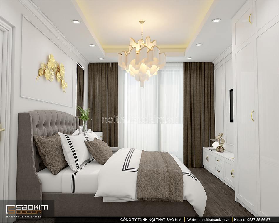 Thiết kế phòng ngủ master phong cách tân cổ điển