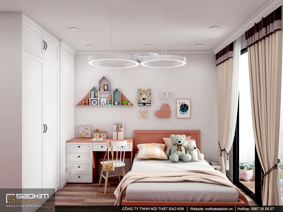 Thiết kế phòng ngủ bé gái chung cư Sunshine Garden