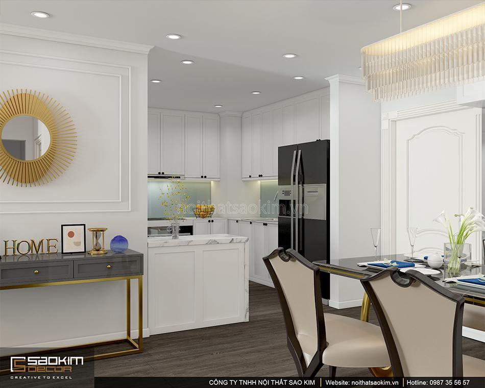 Thiết kế nội thất phòng bếp chung cư Sunshine Garden