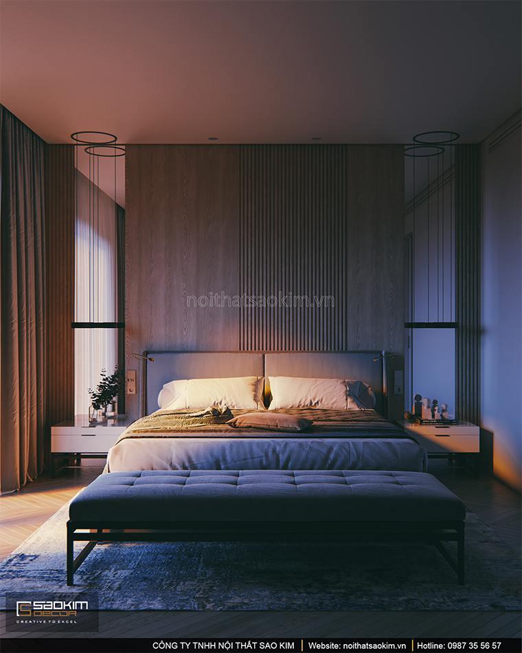 Thiết kế phòng ngủ master căn hộ cao cấp