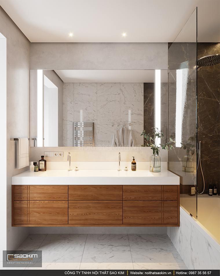 Thiết kế nội thất phòng tắm căn hộ cao cấp Vinhomes West Point