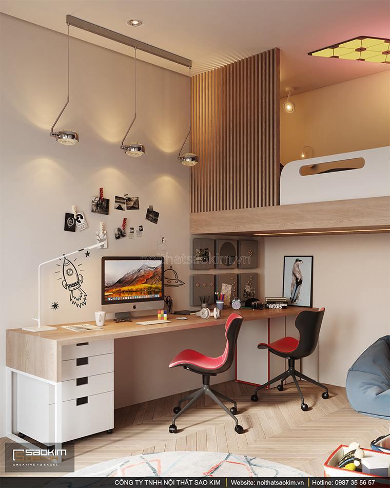 Thiết kế phòng ngủ bé trai căn hộ cao cấp Vinhomes West Point