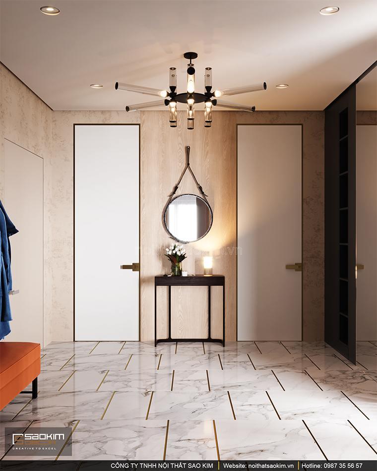 Thiết kế hành lang chung cư cao cấp Vinhomes West Point
