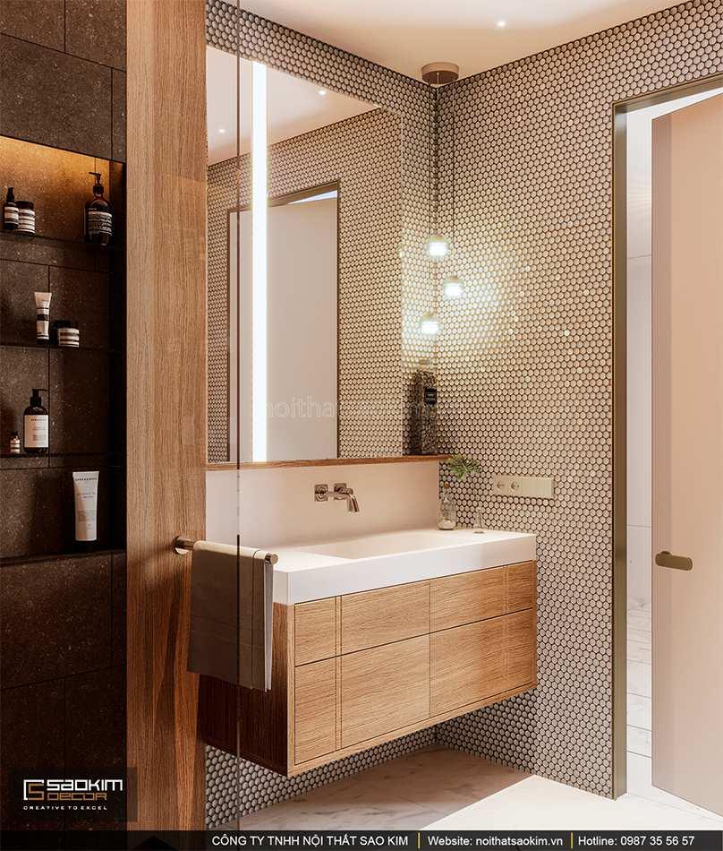 Thiết kế nội thất phòng tắm 2 chung cư cao cấp