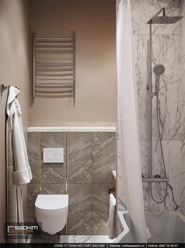 Thiết kế nội thất phòng tắm căn hộ chung cư