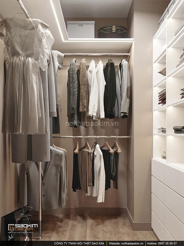 Thiết kế nội thất phòng thay đồ căn hộ 6TH Element