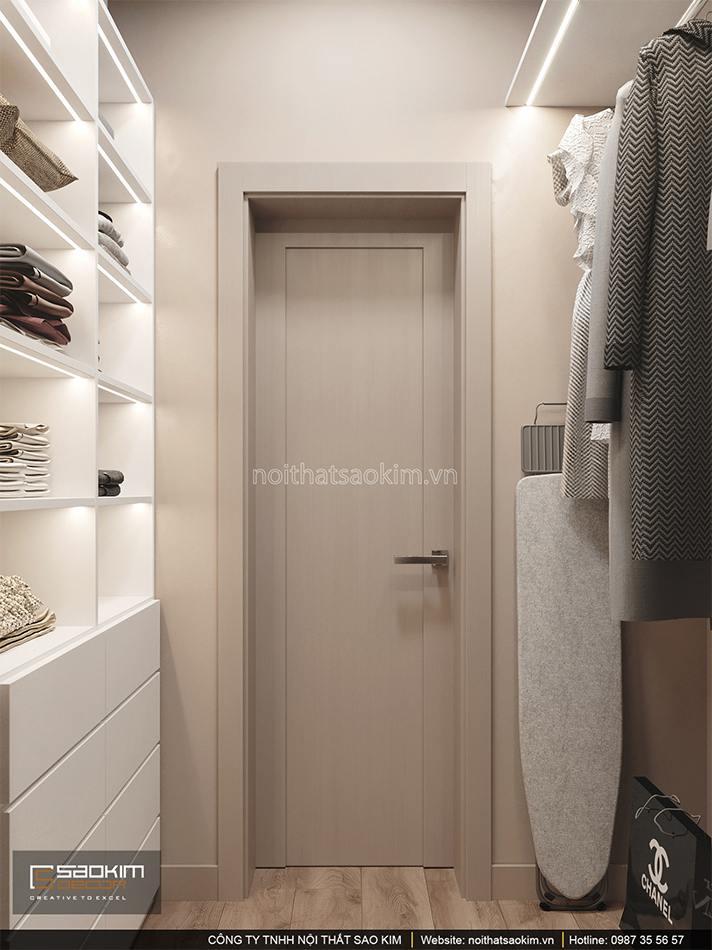 Thiết kế nội thất phòng thay đồ căn hộ